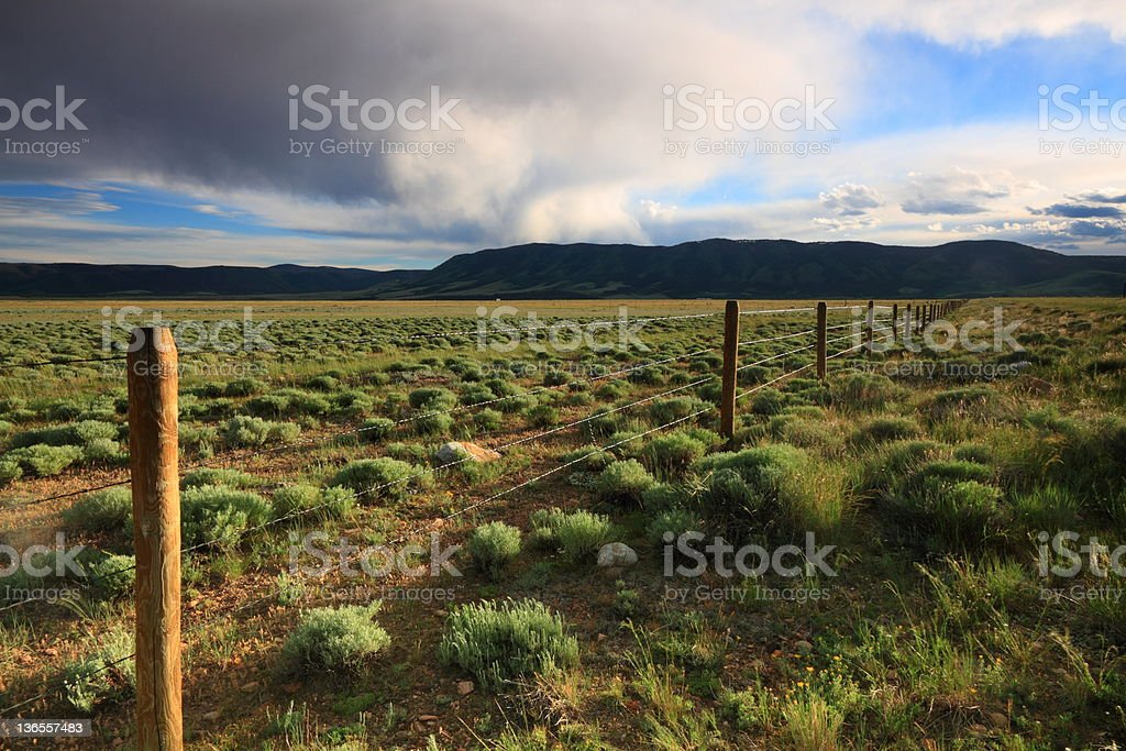 Majestic sky over prairie royalty-free stock photo