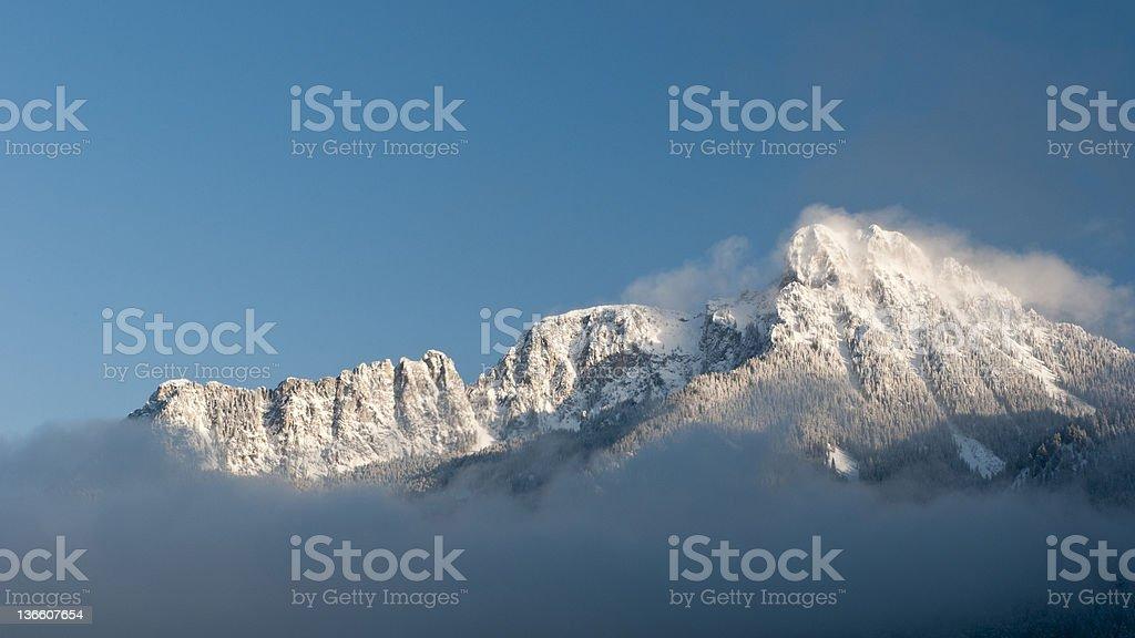 majestic snowy mountain royalty-free stock photo