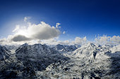 Majestic Snowy Mountains Landscape