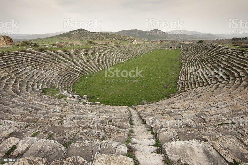 Majestic Stadium of Aphrodisias, Turkey stock photo