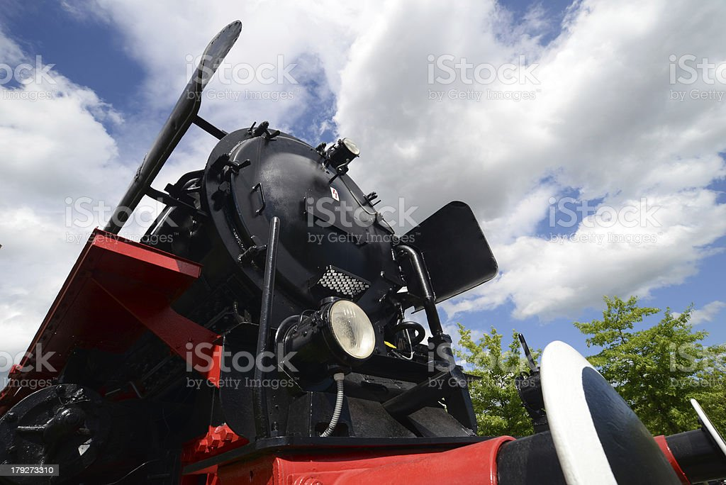 Majestic Steam Locomotive royalty-free stock photo