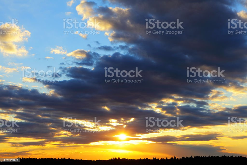 majestic sunset royalty-free stock photo