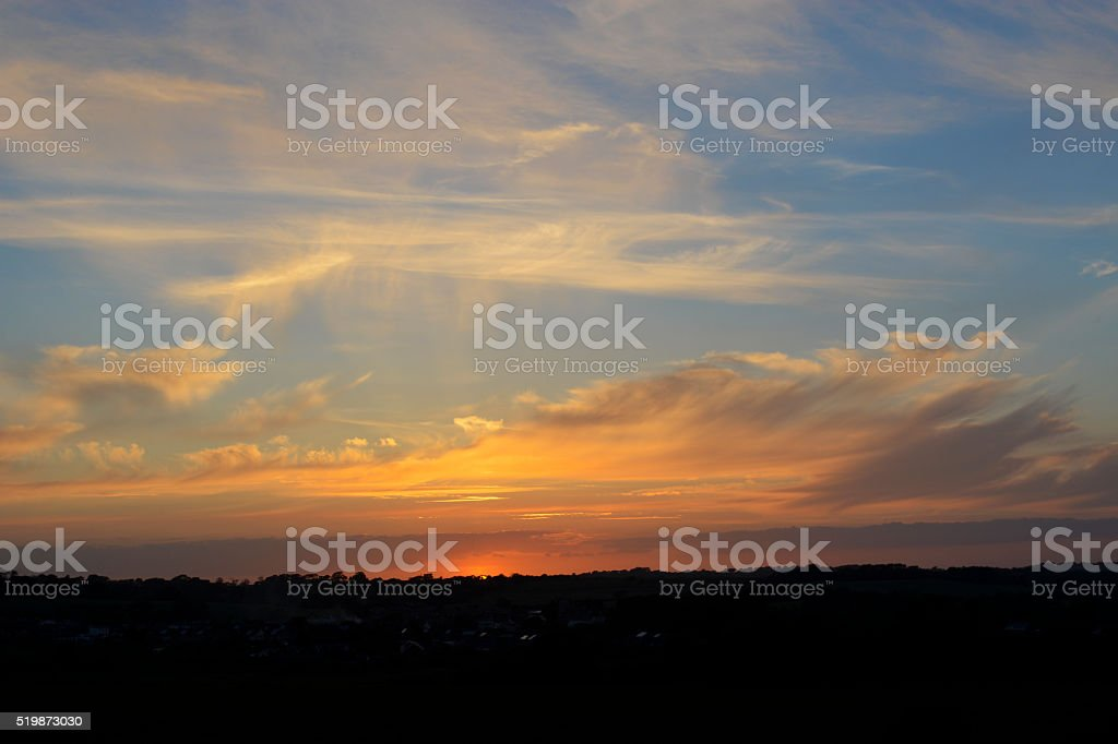 Majestic Sunset stock photo