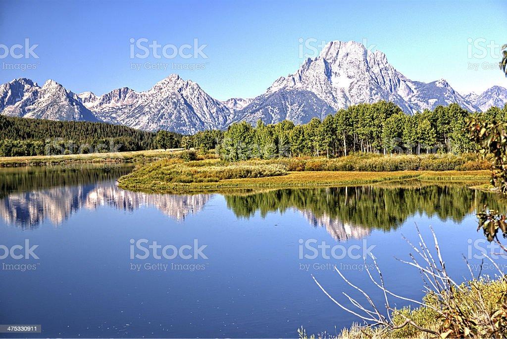 Majestic Tetons stock photo