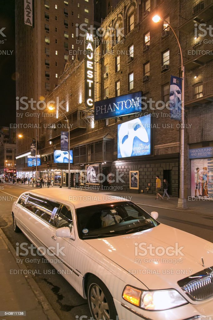 Majestic Theater at West 44th Street, NY stock photo