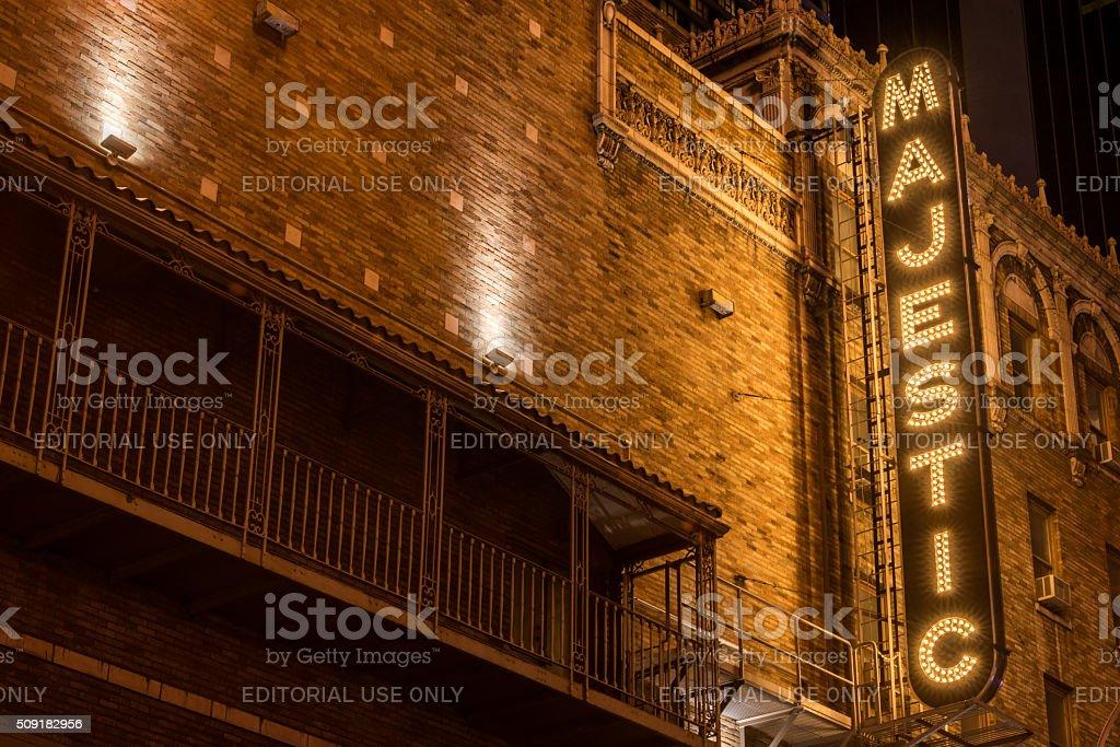 Majestic Theater stock photo