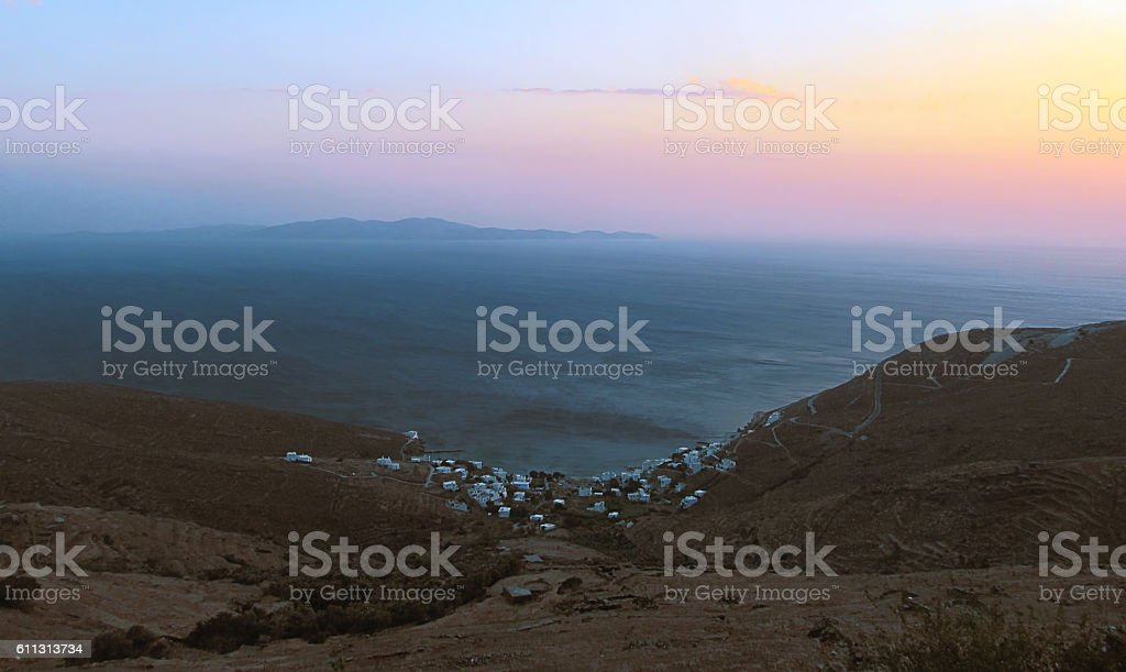 Majestic Tinos panorama stock photo