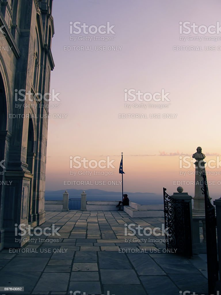 Majestic Tinos stock photo