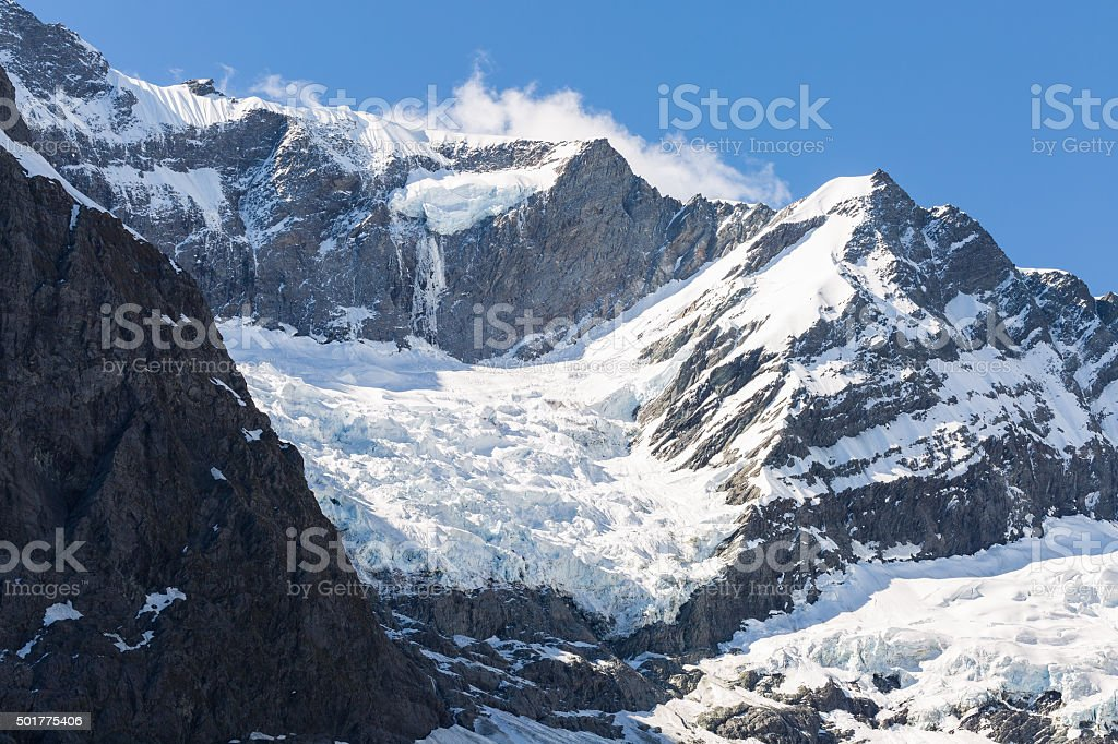 Majestic view of Rob Roy Glacier stock photo