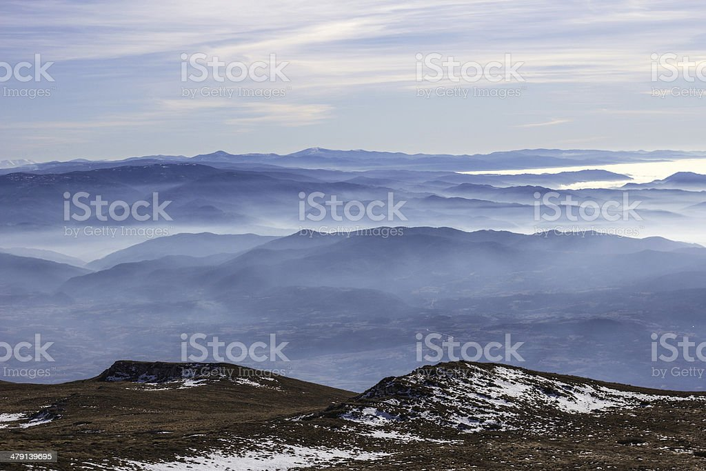 majestic view over hills royalty-free stock photo