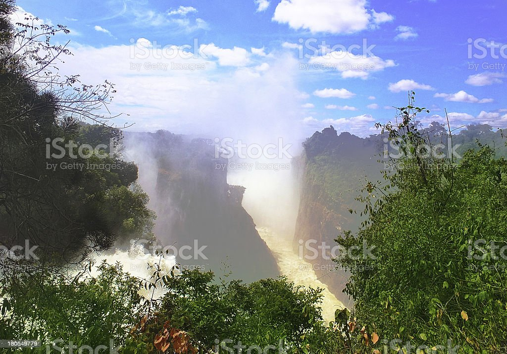 Majestic view with Victoria Falls royalty-free stock photo