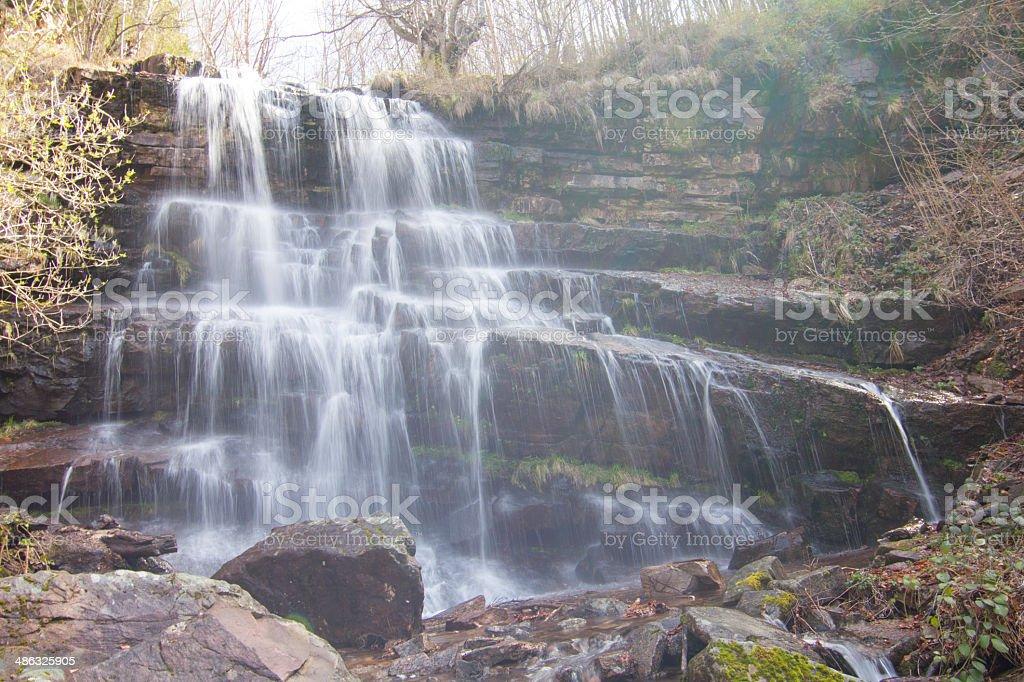 Majestic waterfall royalty-free stock photo