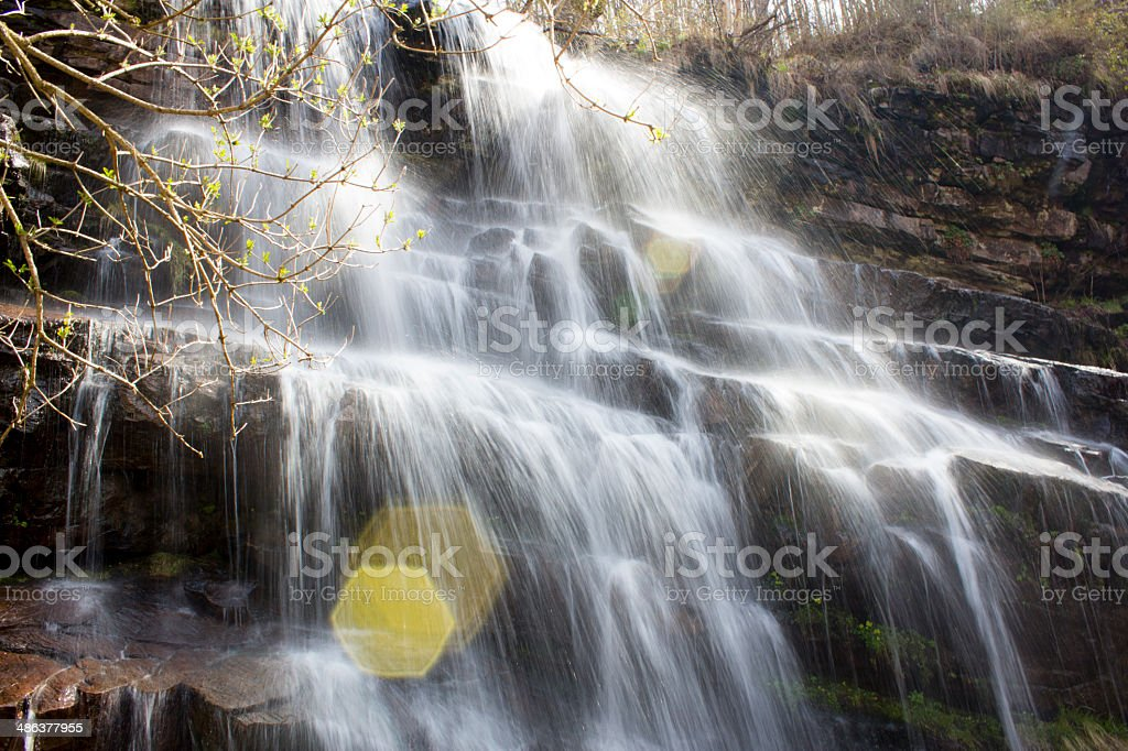 Majestic waterfall royalty-free stock photo