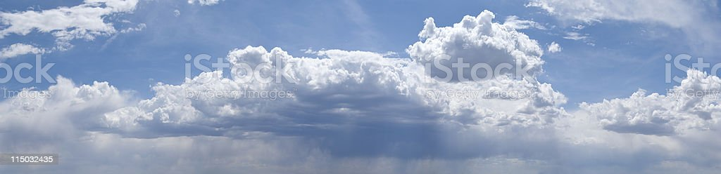 Majestic XXXL Panoramic Cloudscape royalty-free stock photo