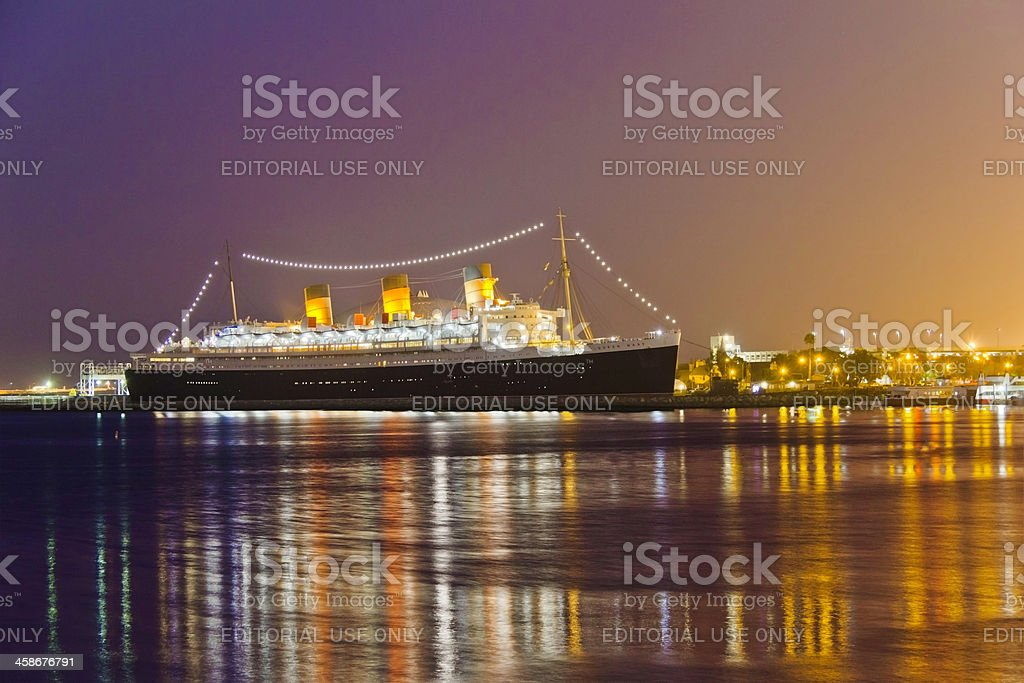 Majesty of the Queen Mary (P) royalty-free stock photo