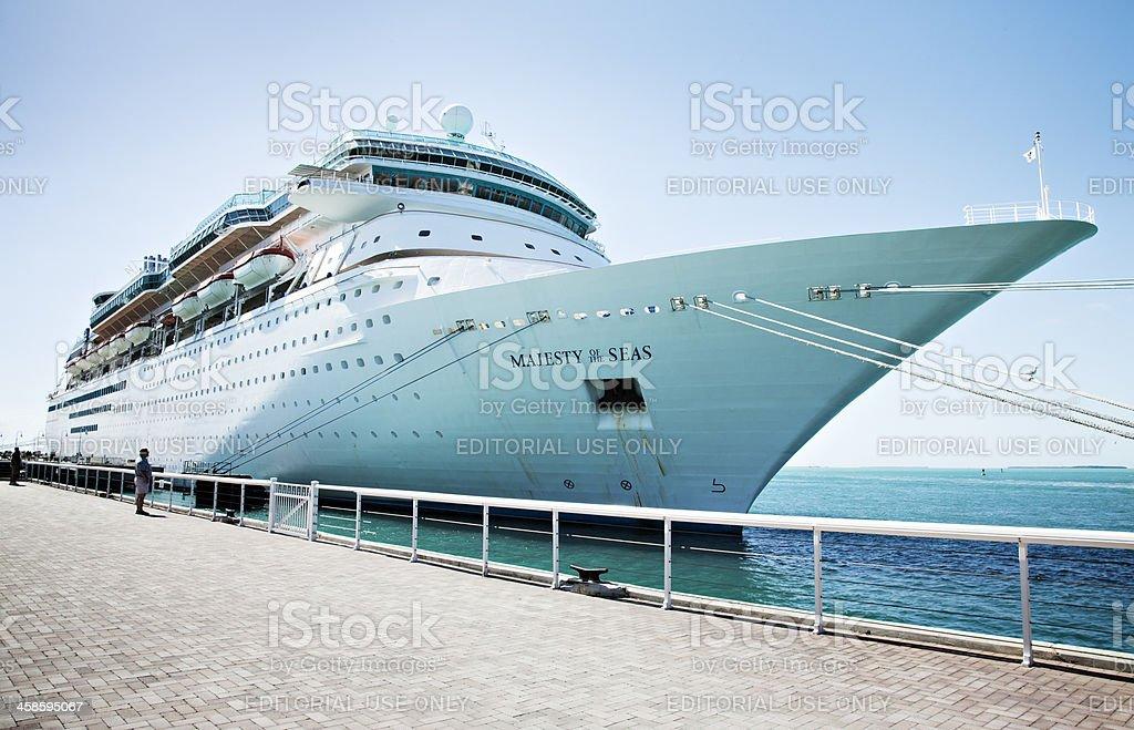 Majesty of the seas Cruise Ship stock photo