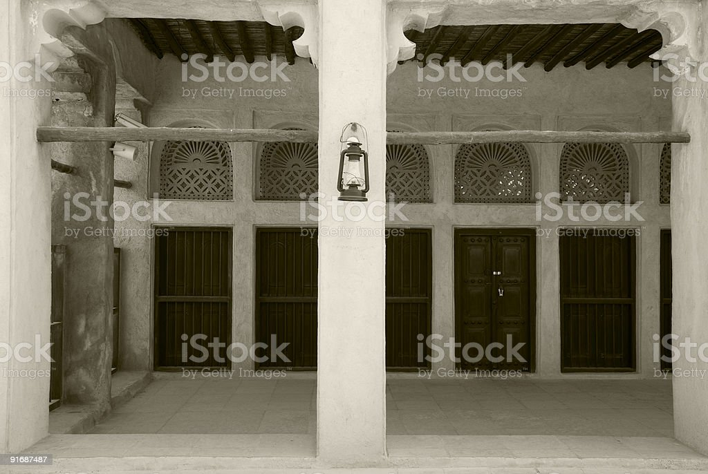 Majlis in Dubai royalty-free stock photo