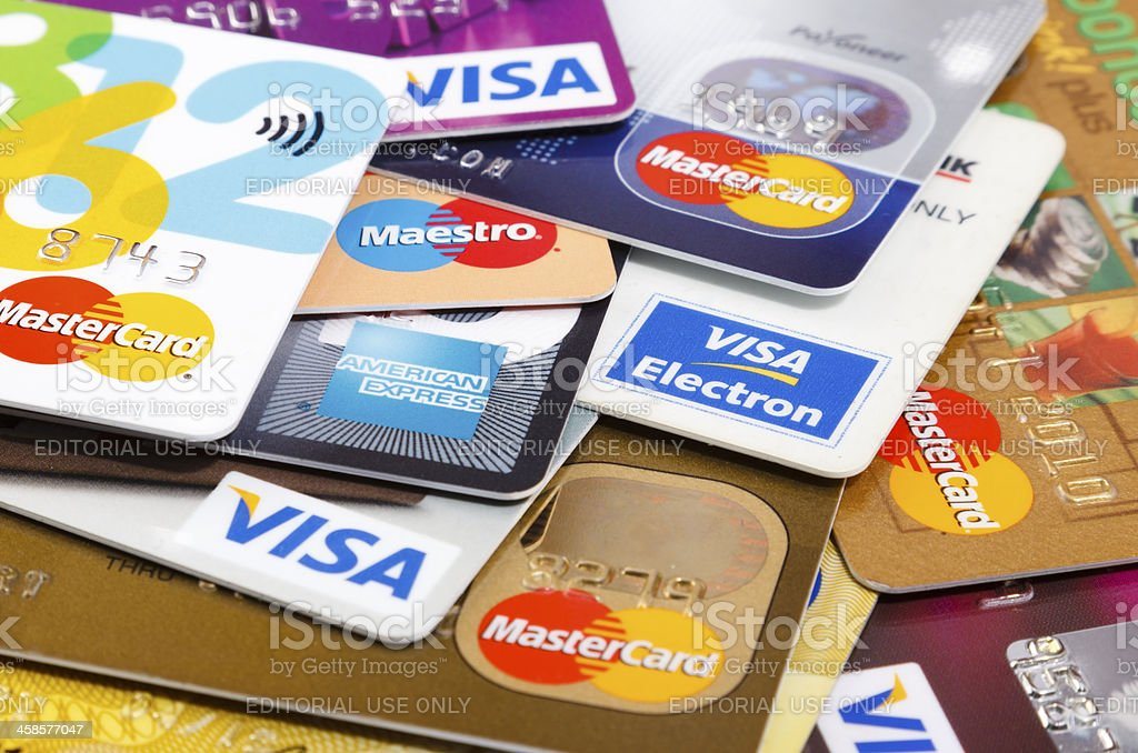 Major Credit Cards XXL stock photo