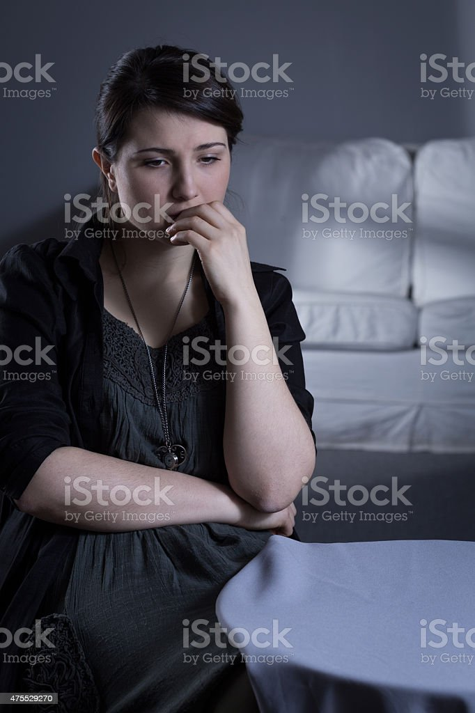 Major depression after bereavement stock photo