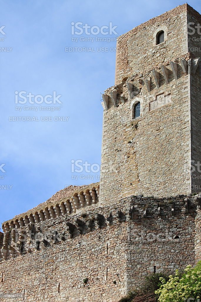 Major Fortress in Assisi royalty-free stock photo