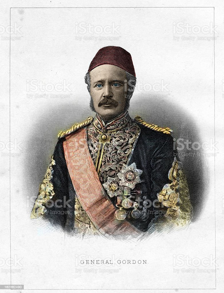 Major General Charles George Gordon royalty-free stock photo