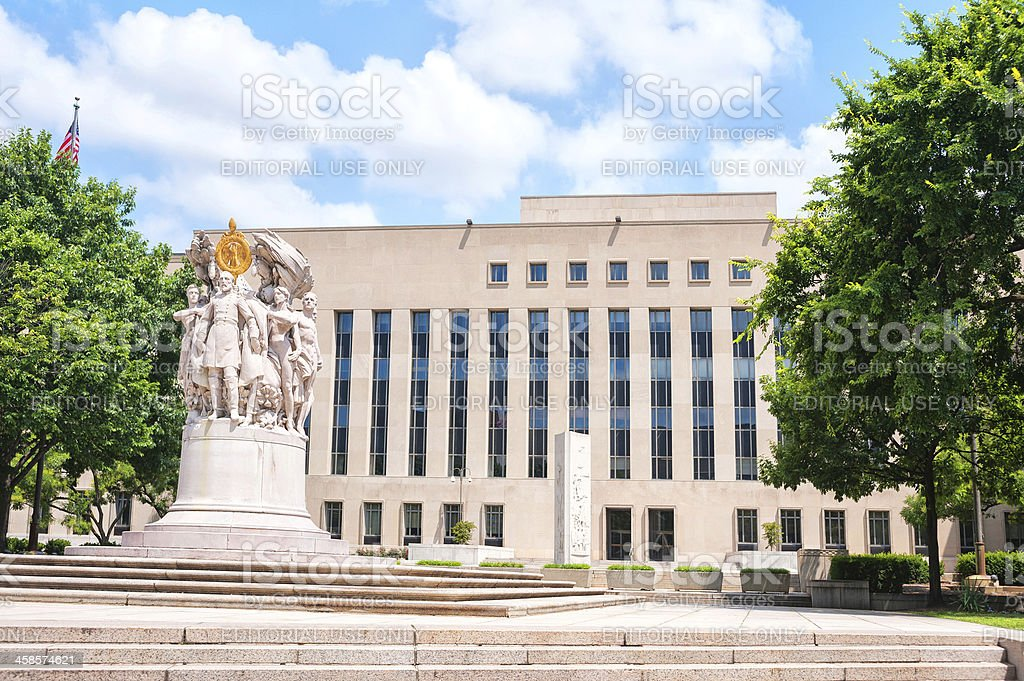 Major General George Gordon Mead Statue, Washington DC stock photo