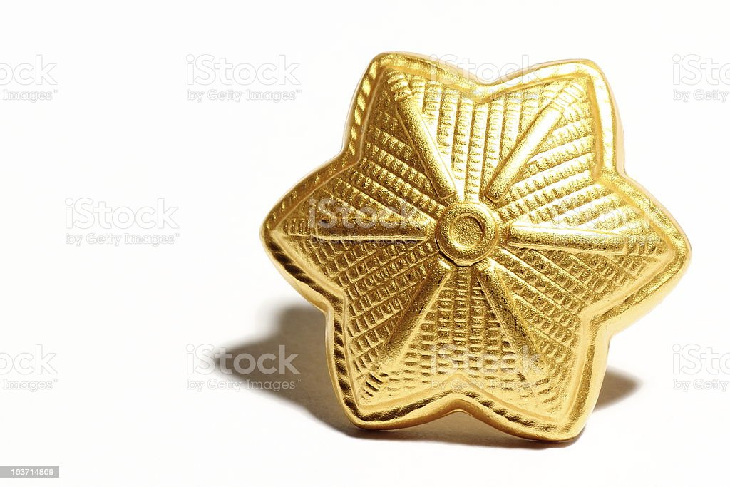 Major golden star royalty-free stock photo