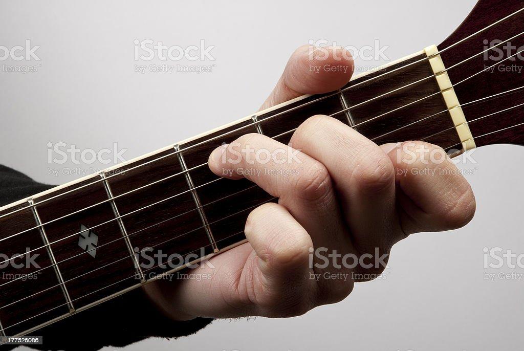 C major in acoustic guitar stock photo