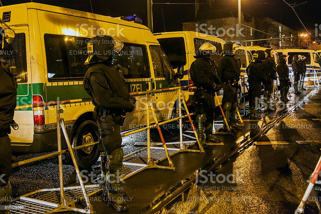 Major police operation stock photo