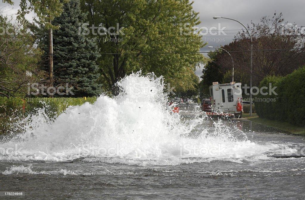 Major street flood royalty-free stock photo