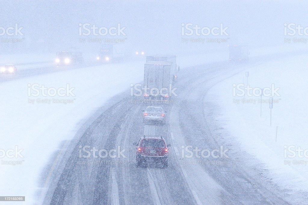 Major winter storm stock photo