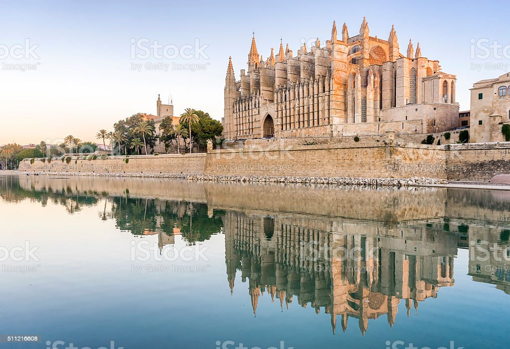 Majorca cathedral stock photo