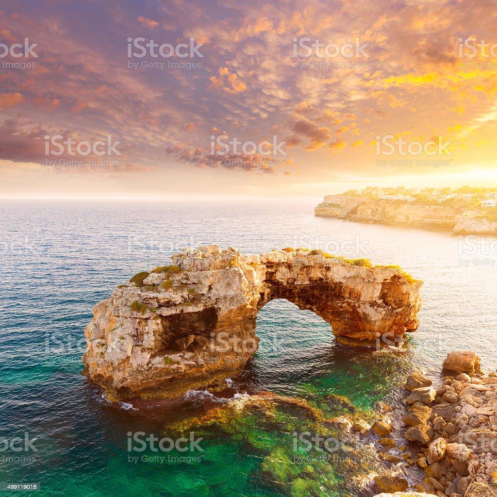 Majorca Es Pontas in Santanyi at Mallorca Balearic stock photo