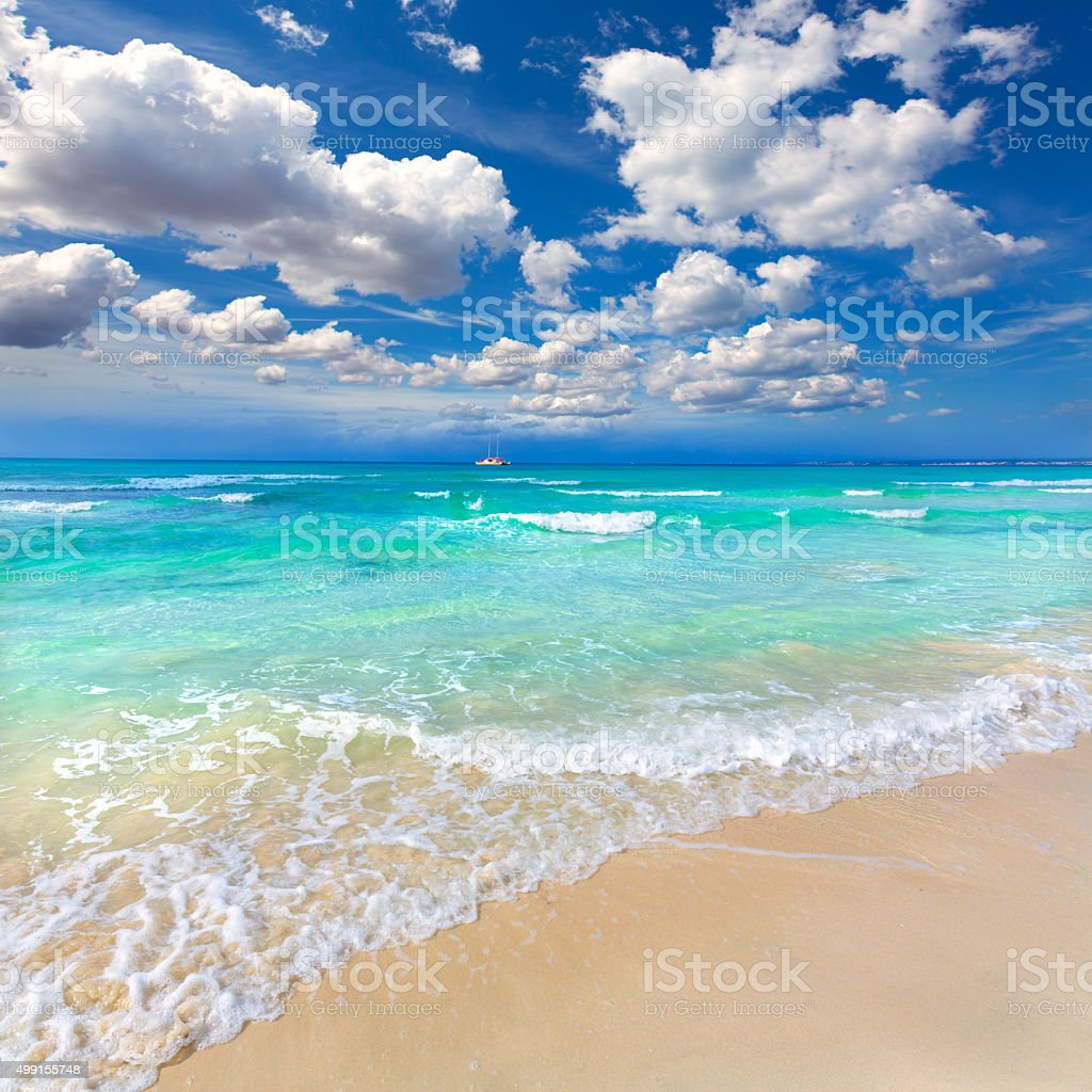 Majorca Es Trenc ses Arenes beach in Balearic stock photo
