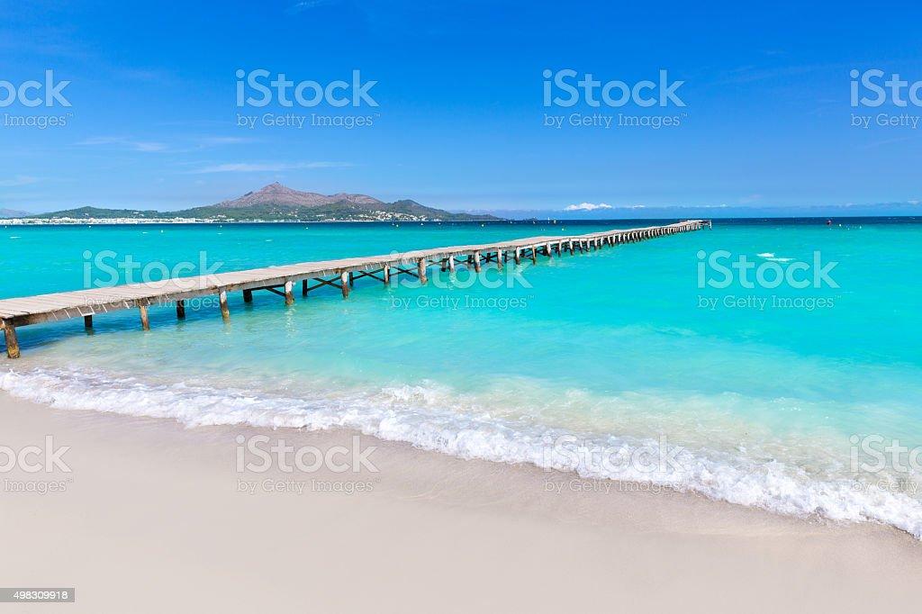 Majorca Platja de Muro beach Alcudia bay Mallorca stock photo