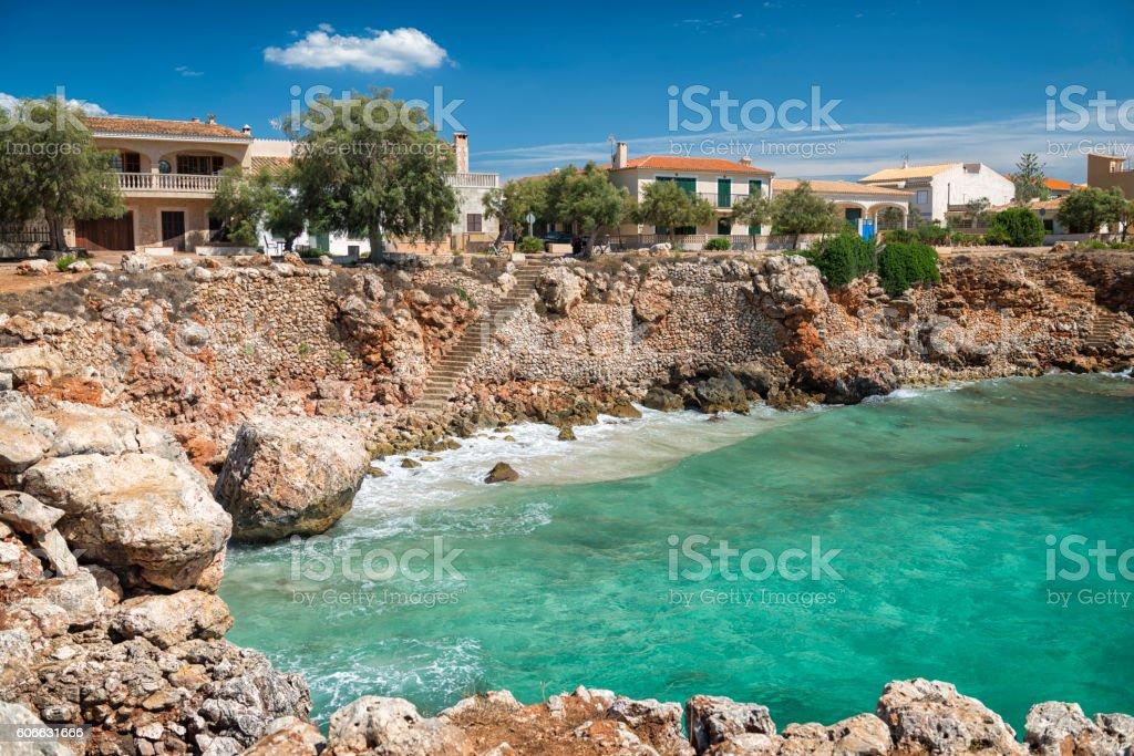 Majorcan small bay stock photo