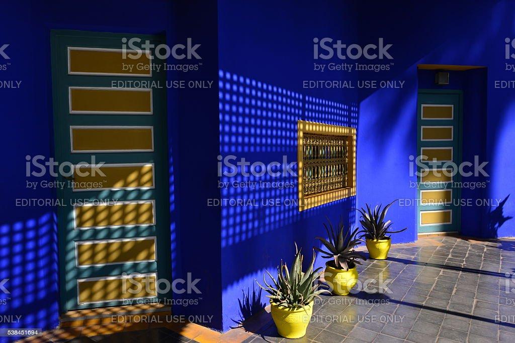 Majorelle garden, Marrakech, Morocco, Africa. stock photo