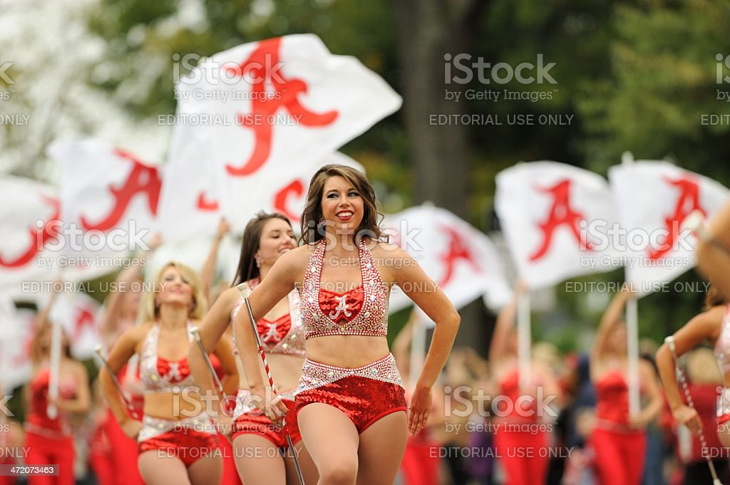 Majorette in Million Dollar Band stock photo