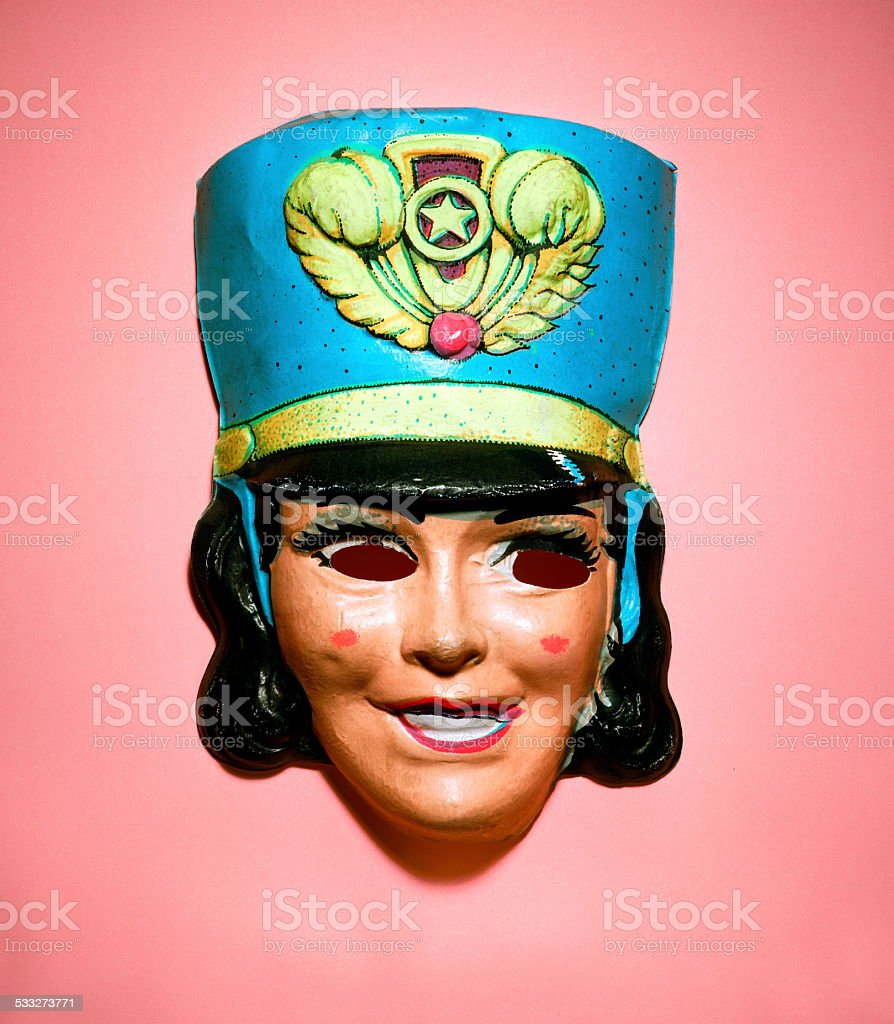 Majorette Mask stock photo