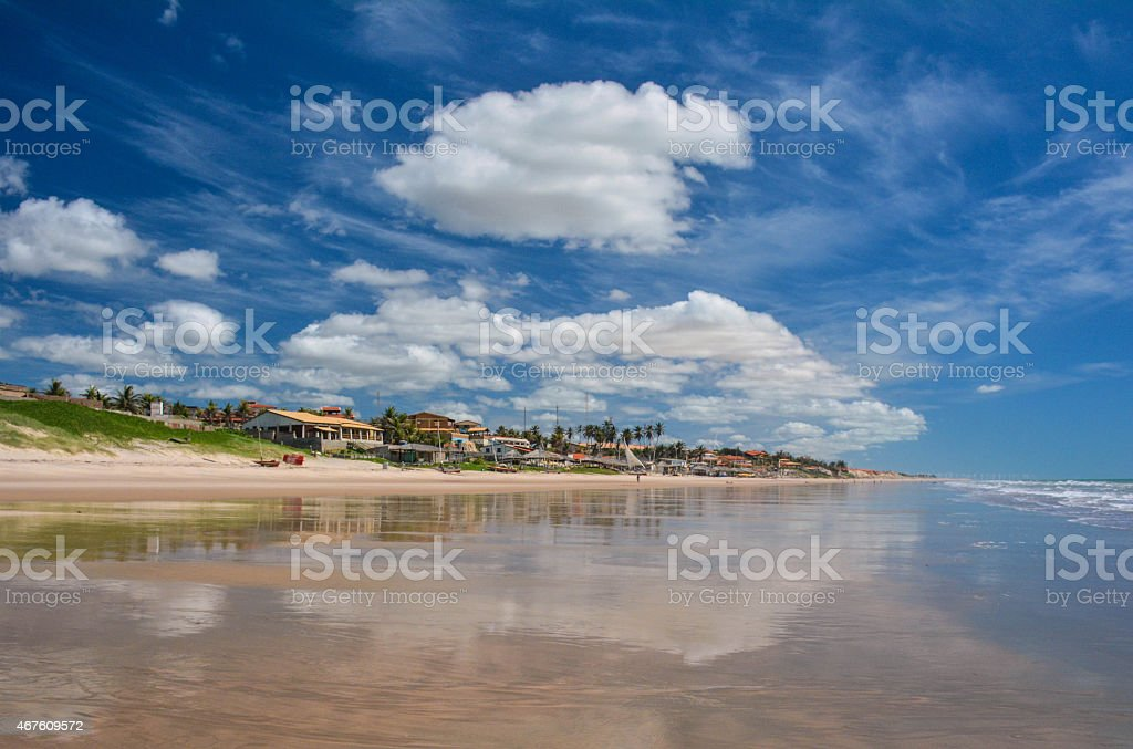Majorlandia,Ceara,Brazil,beach paradise. stock photo