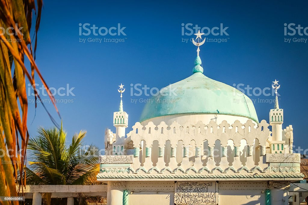 Majunga mosque dome stock photo