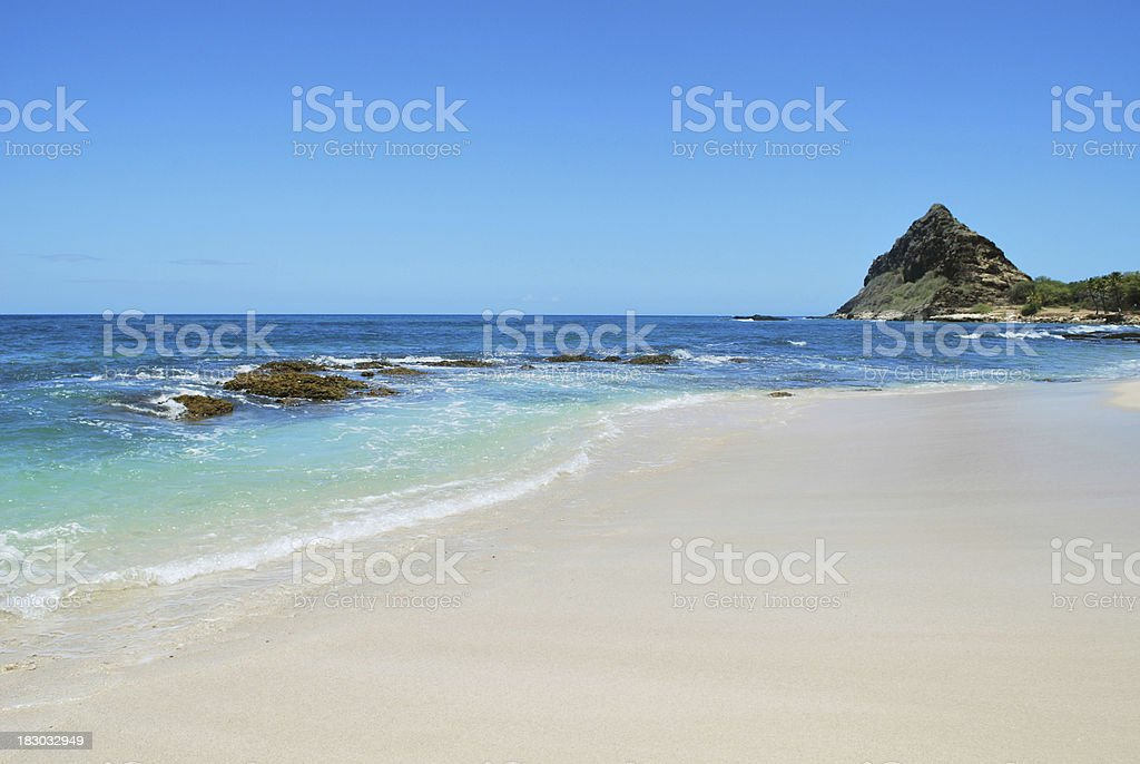 Makaha Beach Park, Waianae, Hawaii. stock photo