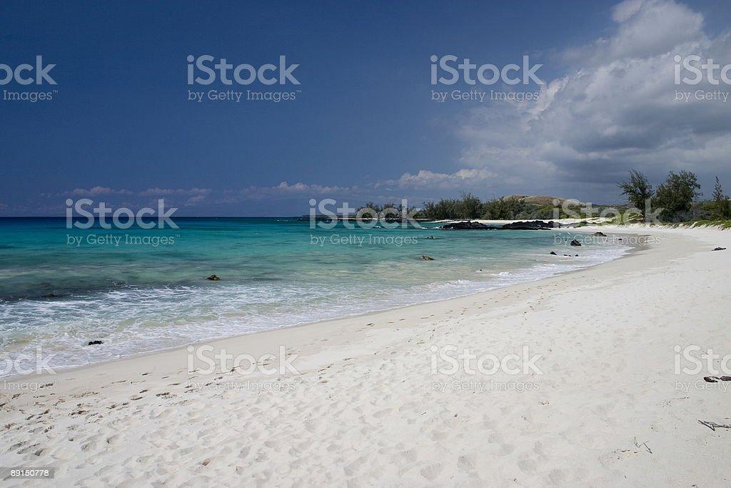 Makalawena Beach stock photo