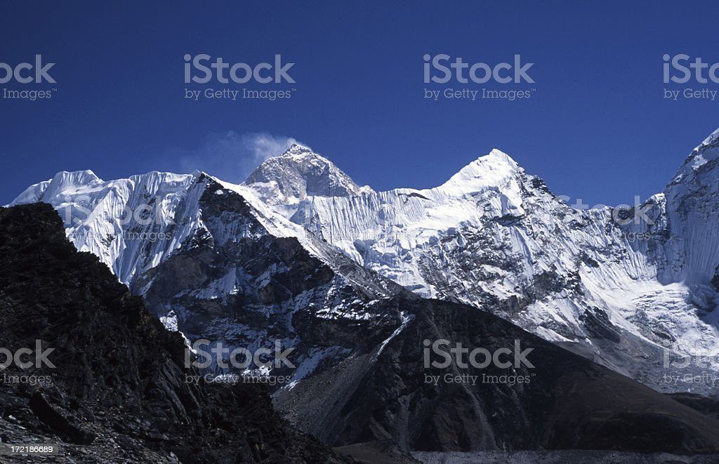 Makalu in the Himalayas royalty-free stock photo