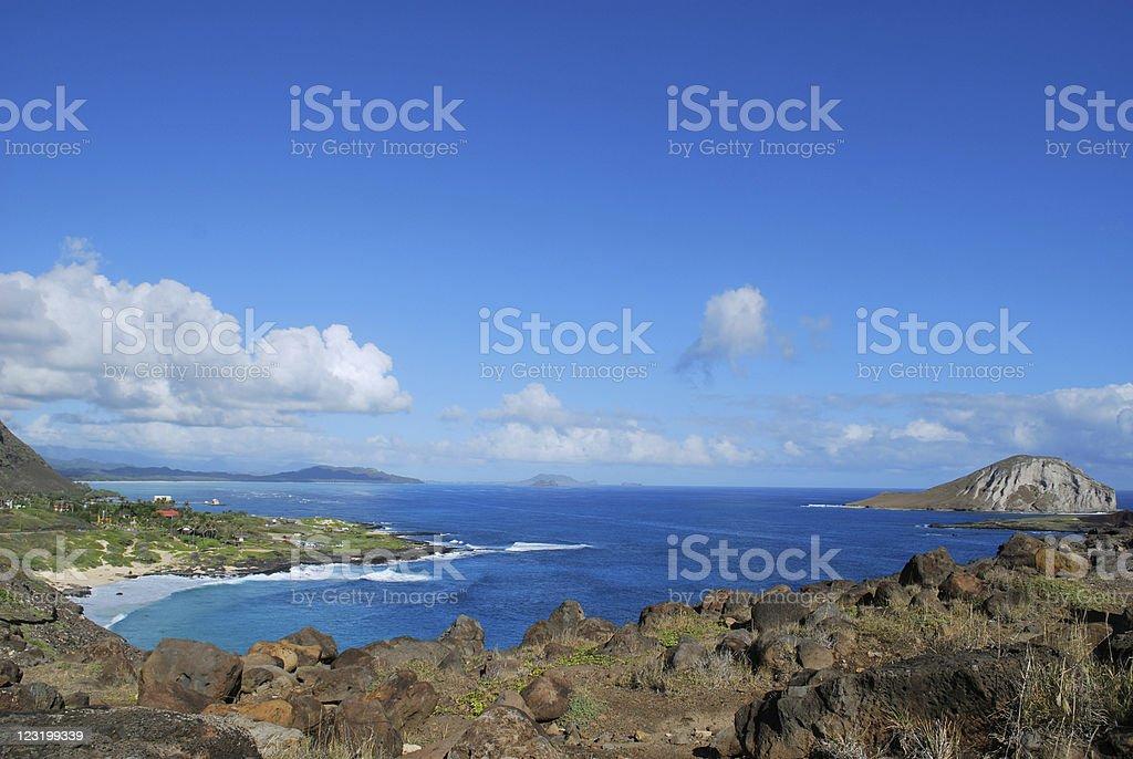 Makapuu Bay, Oahu, Hawaii royalty-free stock photo