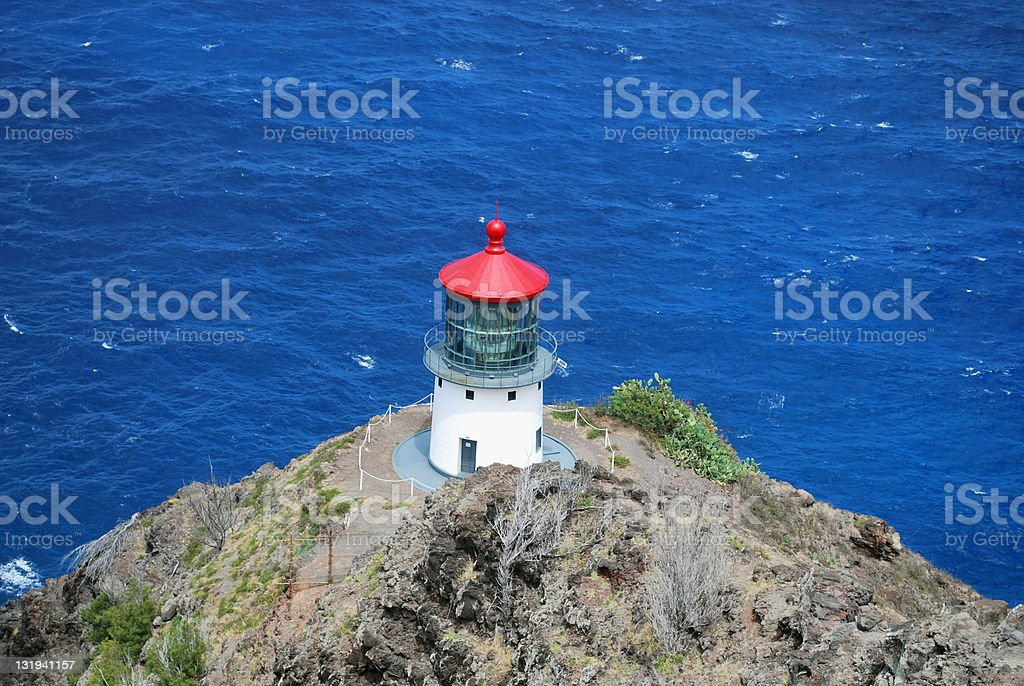 Makapuu Lighthouse royalty-free stock photo