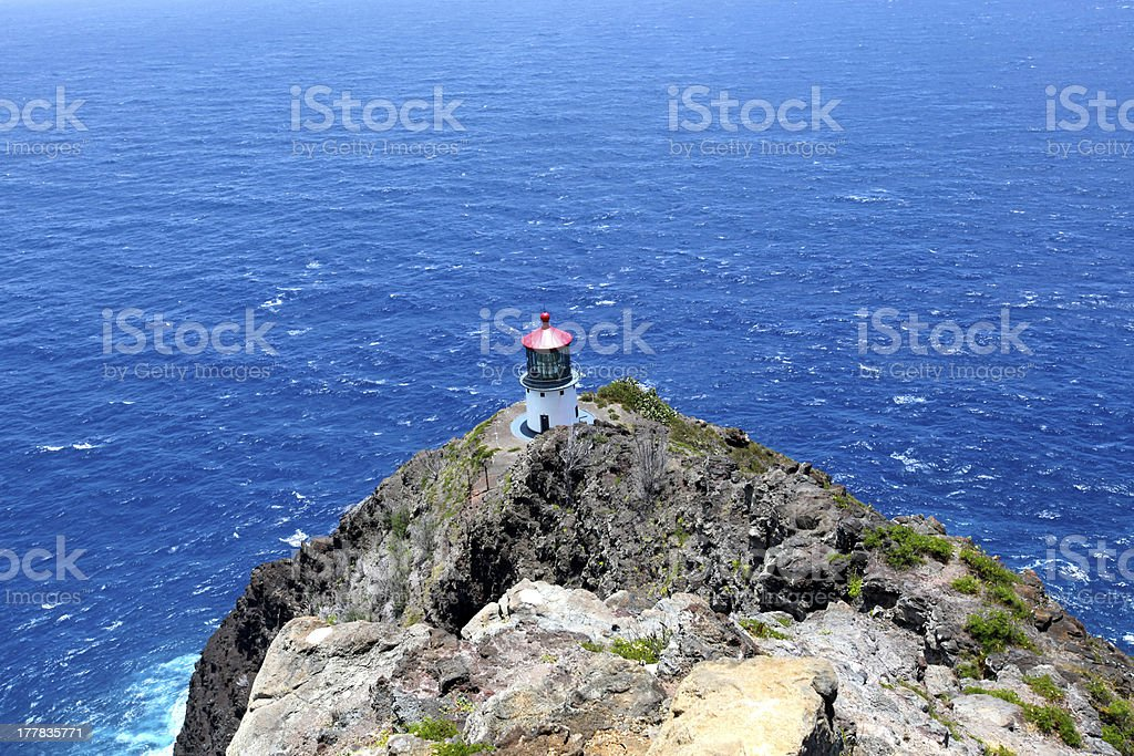Makapu?u Point Lighthouse royalty-free stock photo