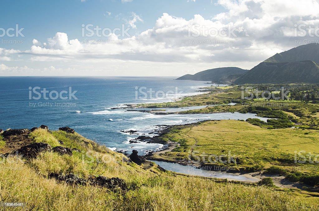 Makapu'u Point State Wayside Park on Oahu stock photo