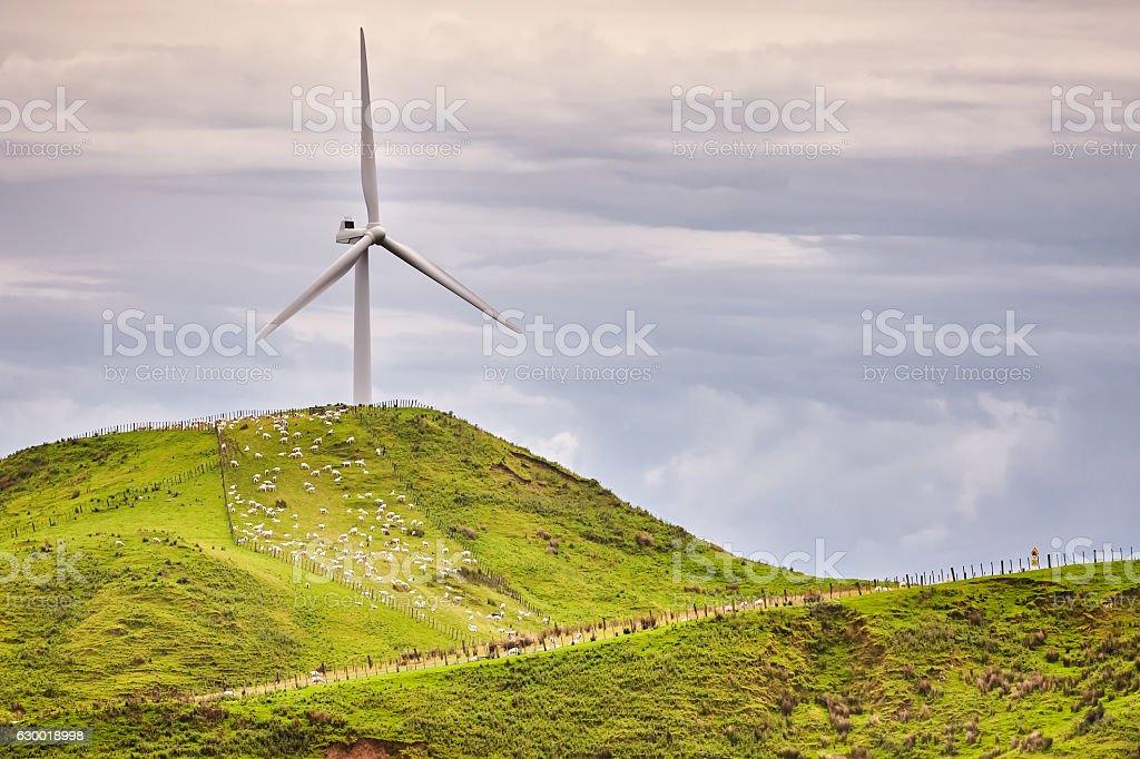 Makara Windkraftanlage stock photo