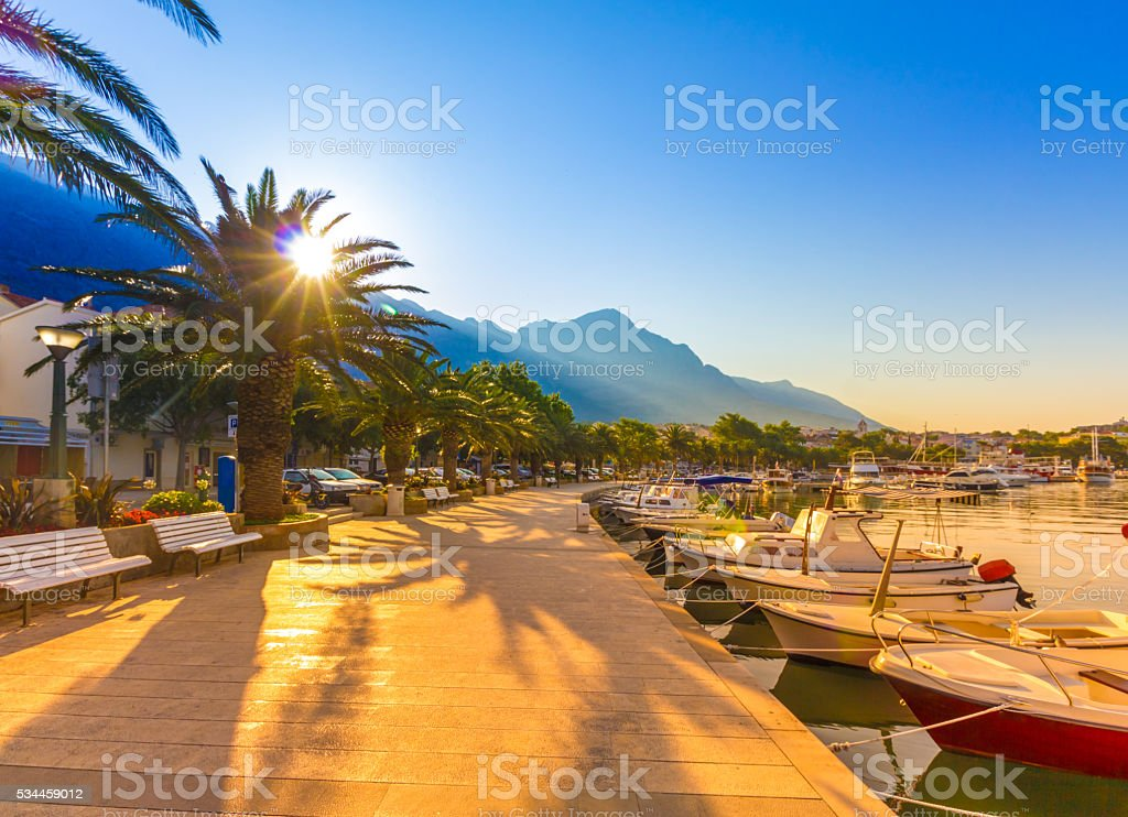 Makarska Riviera Croatia stock photo